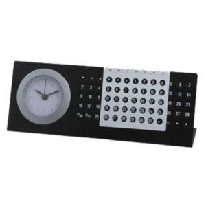 Calendario con reloj