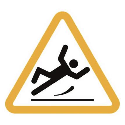 Señal Cuidado piso resbaloso