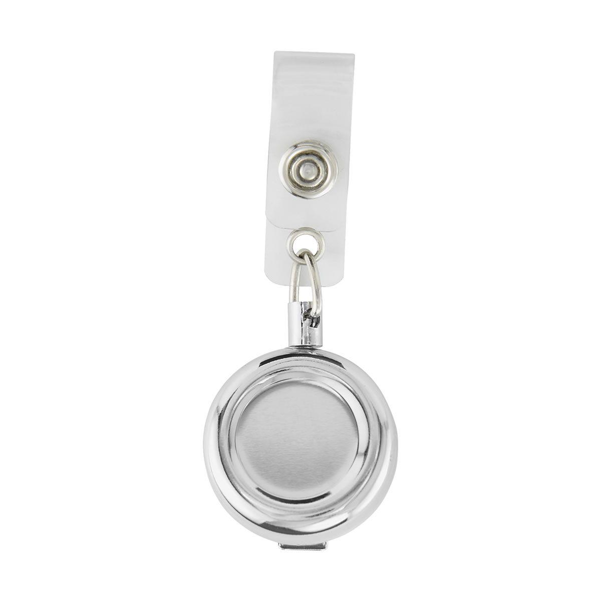Portagafete metalico plata AP-002