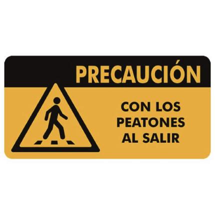 Señal Precaución peatones