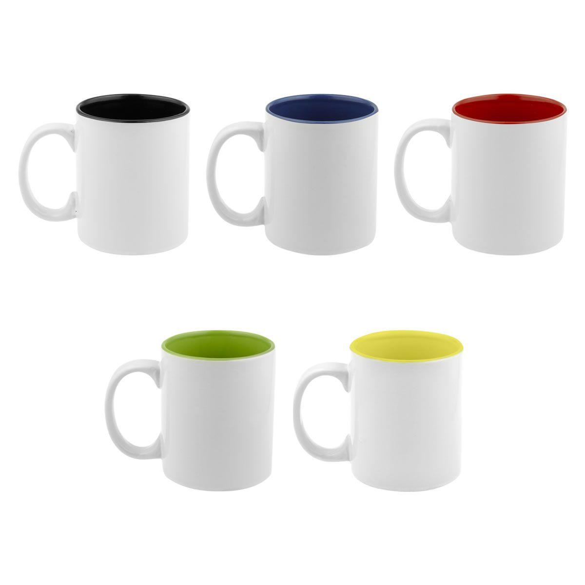 Taza de ceramica bicolor 11 oz  AP-032